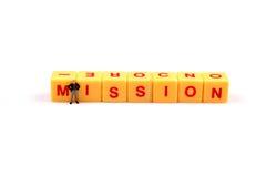 Prioridade da missão imagem de stock