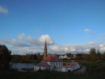 Priorijpaleis in het gebied van Gatchina Leningrad Stock Afbeelding
