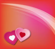 Priorità bassa 01 di amore del biglietto di S. Valentino Fotografia Stock