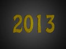 Priorità bassa 2013 di affari di nuovo anno di scintillio dell'oro Immagine Stock