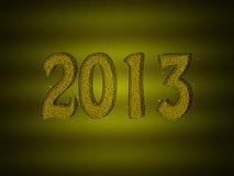 Priorità bassa 2013 di nuovo anno di scintillio dell'oro Immagini Stock Libere da Diritti