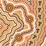 Priorità bassa aborigena di stile Fotografie Stock