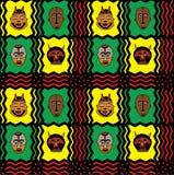 Priorità bassa africana della mascherina Fotografia Stock