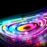 Priorità bassa al neon astratta di tecnologia. Immagine Stock Libera da Diritti