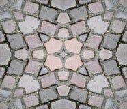 Priorità bassa al suolo di pietra senza giunte di struttura Fotografie Stock Libere da Diritti