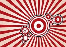 Priorità bassa alla moda del cerchio Fotografie Stock