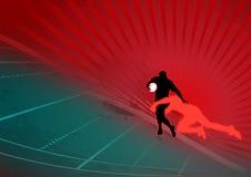 Priorità bassa alla moda di azione di rugby Immagine Stock Libera da Diritti