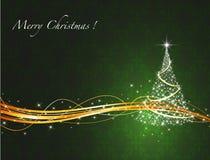 Priorità bassa allegra dell'albero di Natale Fotografie Stock