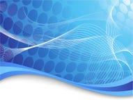 Priorità bassa alta tecnologia blu con le onde Immagine Stock