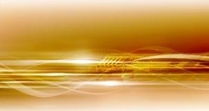 Priorità bassa alta tecnologia eccellente dorata Fotografie Stock