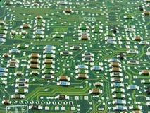 Priorità bassa alta tecnologia. Resistori. Fotografie Stock