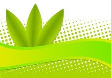 Priorità bassa ambientale verde del reticolo di Eco Immagini Stock Libere da Diritti