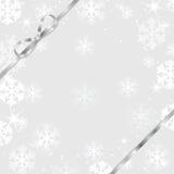 Priorità bassa anno di nuovo e di natale con i fiocchi di neve Immagine Stock
