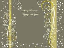 Priorità bassa anno felice di nuovo e di Buon Natale Immagine Stock