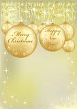 Priorità bassa anno felice di nuovo e di Buon Natale Fotografia Stock Libera da Diritti