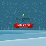 Priorità bassa anno felice di nuovo e di Buon Natale Fotografia Stock