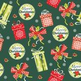 Priorità bassa anno felice di nuovo e di Buon Natale Reticolo senza giunte Fotografia Stock