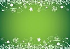 Priorità bassa anno nuovo/di natale (verde) Immagine Stock Libera da Diritti