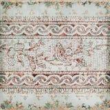 Priorità bassa antica dell'indiano di Paisley dell'annata Fotografie Stock