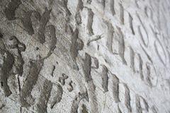 Priorità bassa antica dell'iscrizione Fotografie Stock