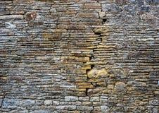 Priorità bassa antica della parete di pietra Fotografie Stock Libere da Diritti
