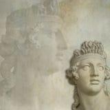 Priorità bassa antica della statua fotografia stock