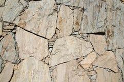 Priorità bassa approssimativa della parete di pietra Fotografia Stock