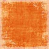 Priorità bassa arancione afflitta Grungy dell'annata Fotografie Stock