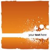 Priorità bassa arancione astratta Fotografia Stock