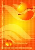 priorità bassa arancione astratta dell'illustrazione Immagine Stock Libera da Diritti