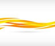 Priorità bassa arancione astratta dell'onda Fotografia Stock Libera da Diritti