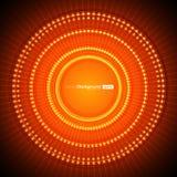 Priorità bassa arancione astratta di vettore Fotografia Stock
