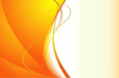 Priorità bassa arancione con le onde Fotografie Stock Libere da Diritti