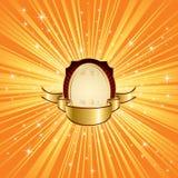 Priorità bassa arancione con le stelle royalty illustrazione gratis