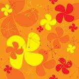 Priorità bassa arancione del ventilatore Immagine Stock