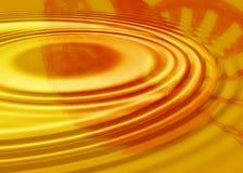 Priorità bassa arancione dell'ondulazione Fotografia Stock