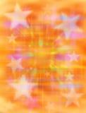 Priorità bassa arancione della stella Fotografia Stock Libera da Diritti