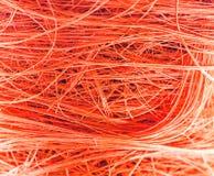 Priorità bassa arancione delle fibre Immagine Stock