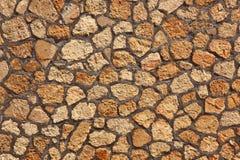 Priorità bassa arancione di alta risoluzione di struttura della roccia Fotografia Stock