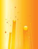 Priorità bassa arancione di tecnologia Fotografie Stock Libere da Diritti