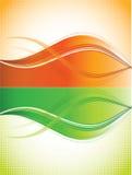 Priorità bassa arancione e verde delle curve Immagini Stock Libere da Diritti
