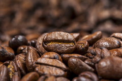 Priorità bassa arrostita dei chicchi di caffè fotografie stock