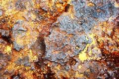 Priorità bassa arrugginita del metallo Fotografie Stock