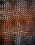 Priorità bassa arrugginita del metallo del diamante Fotografia Stock