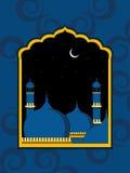 priorità bassa artistica di disegno con la moschea Immagini Stock
