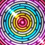 Priorità bassa astratta al neon Fotografia Stock
