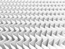 Priorità bassa astratta bianca dell'onda 3D rendono, una sorgente luminosa, ombre molli Fotografia Stock