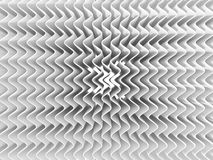 Priorità bassa astratta bianca dell'onda 3D rendono, una sorgente luminosa, ombre molli Fotografie Stock Libere da Diritti