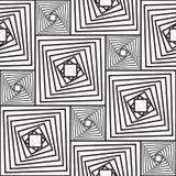 Priorità bassa astratta in bianco e nero con i quadrati Fotografia Stock