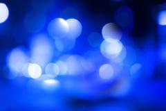 Priorità bassa astratta blu del bokeh Fotografia Stock
